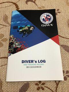 全新 DIWA 迪華 潛水日誌及訓練紀錄