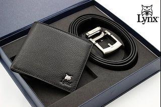 父親節禮盒(限量商品) Lynx皮帶皮夾禮盒(生日禮訂婚禮) $3880 (三款任選)