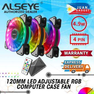 Alseye CRLS 300DS 120mm LED Case ARGB D Ringer Cooling Fans with 2pcs Multicolored LED Strips with Wireless Remote Control for PC Cabinets and Radiators | Juan Gadget