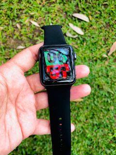 Apple Watch series 3 42mm Hitam Iwatch Space Gray
