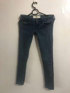 Authentic Hollister Grayish Blue Skinny Jeans
