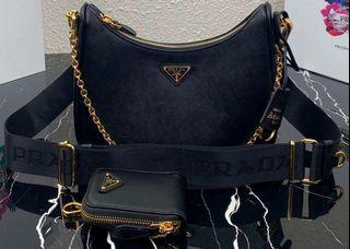 Authentic Prada Saffiano Re-Edition Sling Bag
