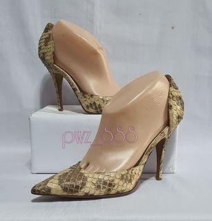 BALENCIAGA Snakeskin Pumps Heels Size 38 1/2 D