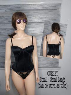 Black plain corsets  32/34b cup