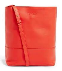 Bottega Veneta Red Leather Bucket Bag
