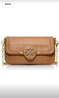 Brown Tory Burch Brown Leather Crossbody Purse