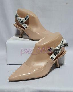 CHRISTIAN DIOR J'Adior Pink Patent Sling Back Heels Size 35