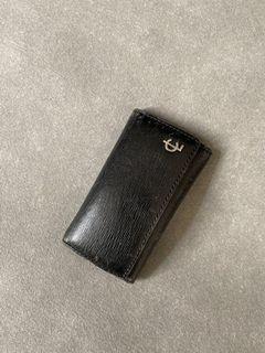 COACH 黑色真皮古董鑰匙包