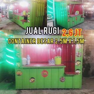Container Booth Box Kontainer untuk Bisnis Usaha Dagang