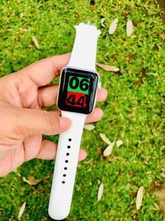 EX IBOX !! Apple Watch series 3 38mm Silver iwatch mulus