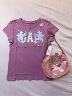 Gap sparkly unicorn purple shirt