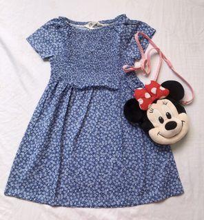 H&M blue flowery dress