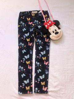 H&M colorful butterfly curdoroy pants
