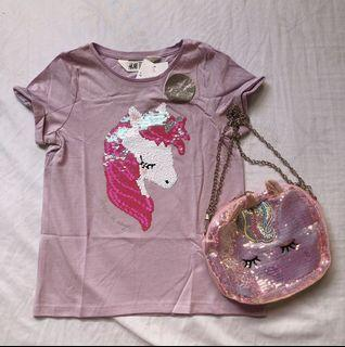 H&M unicorn interactive shirt