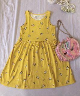 H&M yellow flower dress