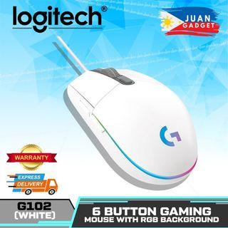 Logitech G102 Lightsync Optical Gaming mouse with 16.8m LED Colors, Built-in Storage Capability for PC/Mac (White) | Juan Gadget