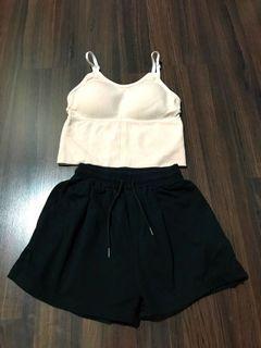Lounge Set - Bra Top & Shorts