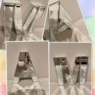 NEW 6 inch tall mirror letters A & M ($25 each)