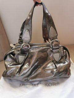 Original Michael Kors Silver Mettalic Shoulder Bag