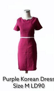 PURPLE KOREAN DRESS M