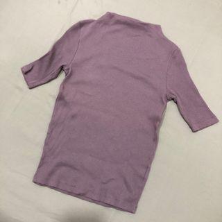 Uniqlo紫色緊身上衣