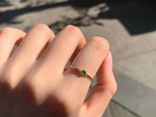 18K精緻翡翠戒指 尺寸可免費修改