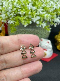 18K Gold - 3-Triangle Earrings (E20)