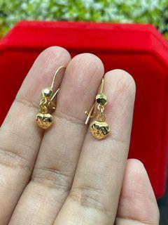 18K Gold - Heart Clip Earrings (E21)