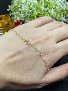 18K Gold - Cable Chain Bracelet (B14)