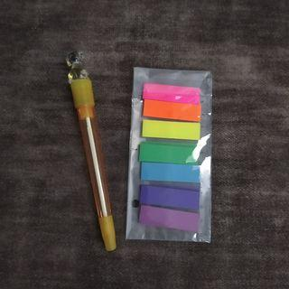 7 fluorescent color index tab sticky note memo pad bookmark