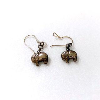 日本購入 大象925純銀耳環