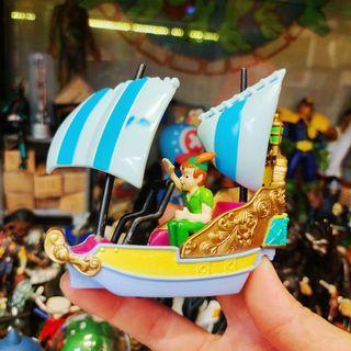 迪士尼 絕版 限定 稀少 peter pan 彼得潘 小飛俠 夢幻 飛船 造型 合金 車子 樂園 遊樂設施 公仔 玩具