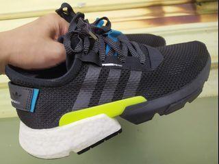 正品 Adidas Originals POD Boost 中底 黑綠 慢跑鞋 AQ1059