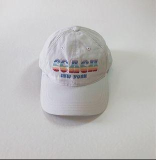 正品 COACH 彩虹🌈 NEW YORK老帽 鴨舌帽