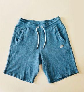 正品 NIKE 淺藍色 短褲 棉褲 L