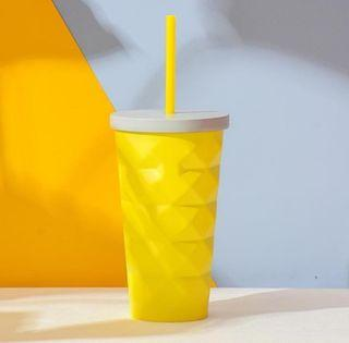 🆕 Starbucks China Limited Edition Yellow Pineapple Stainless Steel Cold Cup
