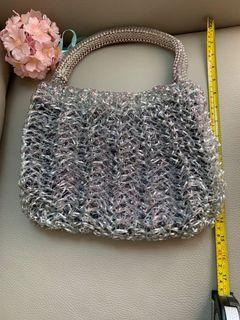 Anteprima Wire Bag, silver, bling bling with inner sac