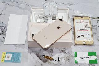*典藏奇機*優質美機-Apple iPhone 8 Plus 64GB 5.5吋 IP67 防水防塵 無線充電 玫瑰金