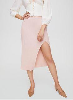 Aritzia knit slit skirt xxs