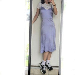 Aritzia wilfred slip dress lavender