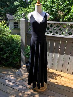 Armani Emporio stunning long black dress (size 44)(compares to a US size 8-10)
