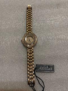 Asialux 豪華晶鑽女錶精品女錶 全新未配戴(無包裝盒、無電,需自行更換電池)