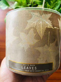 Bath & Body Works / White Barn 3-wick candle Leaves