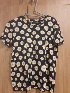 Bershka sunflower shirt
