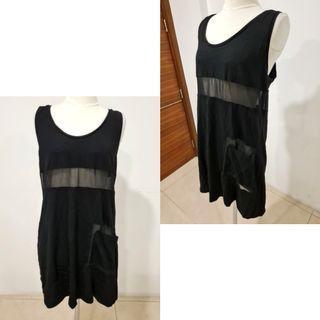 black sheer sleeveless dress