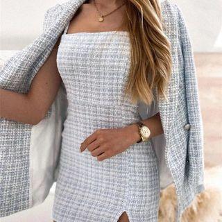 Brand new Vintage plaid tweed dress