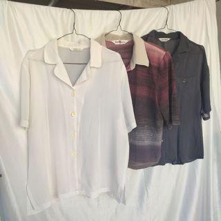 BUY 1 GET 2    Bundling Thrift Kemeja Vintage