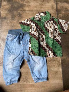 Celana jeans bonus kemeja