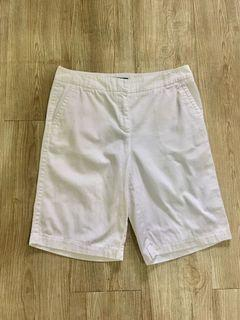 Charter Club White Bermuda Cotton Shorts