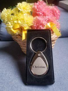 CHRISTINE name Keychain/Holder